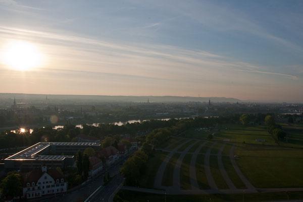 Ballonfahrt über dem Dresdner Elbtal