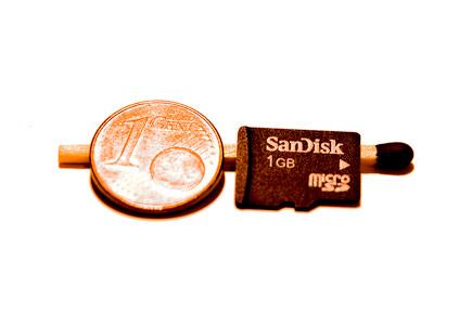 microSD Größenvergleich