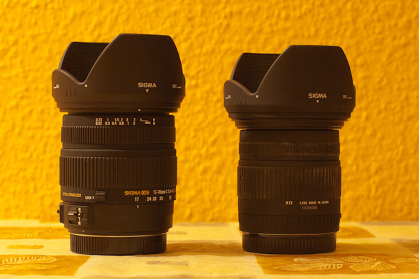 Vergleich Sigma 17-70mm F2.8-4.5 DC Macro mit dem Nachfolger Sigma 17-70 F2.8-4.0 DC Macro OS HSM